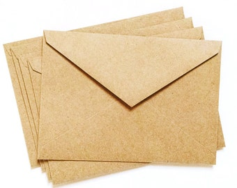 SALE 10-50 Kraft Envelopes 4.125 by 5.75 inch