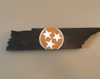 Tennessee State Flag Cut Out