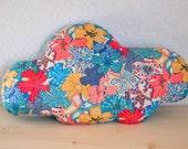 Cushion cloud liberty mauvey blue multicolor - decoration room baby child salon