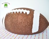 Glittered Football Decoration, Tailgating Decoration, Tailgate Party, Football Party, Football Birthday, Football Shower, Super Bowl party