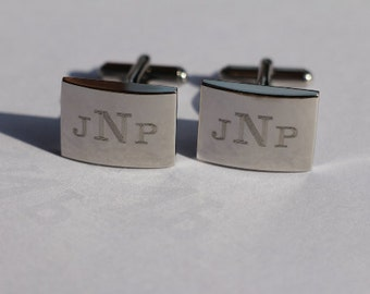 Father of the Bride Cufflinks, Custom Engraved Wedding Cufflinks, Personalized Father Of Groom Gift , Father Daughter Gift, Fathers Day Gift