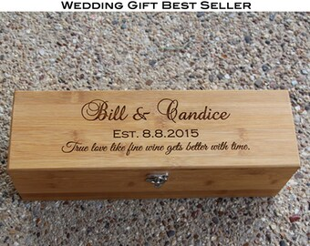 Wine Box Personalized, Gifts for Couple, Anniversary Gift, Wedding Gift, Wine Box Ceremony, Wedding Ceremony, Wine Gift