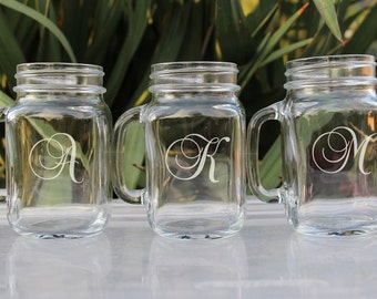 Personalized Bridesmaids Gifts - 21 Laser Engraved Mason Jar, Wedding Mason Jar, Bridesmaid Mason Jar, Gifts for Bridesmaids, Wedding Favors