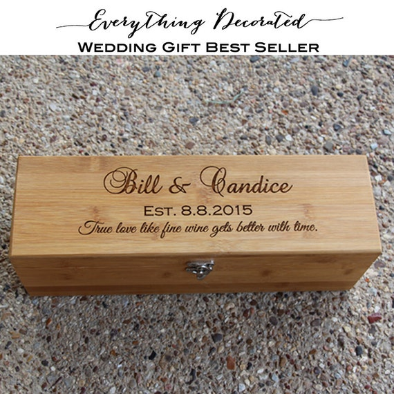 Wedding Wine Box Personalized Wooden Wine By