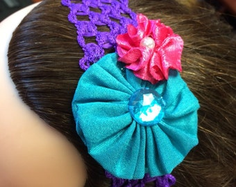 Double Flower Stretchy Headband