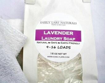 Laundry Soap Natural Vegan 1 lb Eco Friendly Lavender