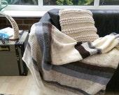 Knitted nautical blanket afghan
