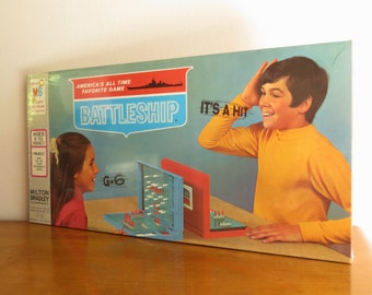 Unopened Vintage 1971 Battleship Board Game, NIB Battleship Game, Factory Sealed Battleship Game