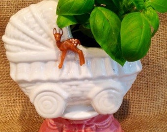 Baby buggy herb planter