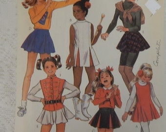 McCall's Pattern 2007 Young  Girls costume Size 7 Skating, Band, Cheering Complete,  partially Cut  Free ship in USA