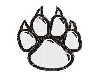 paw embroidery design