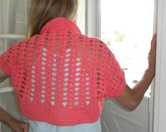 Crochet BOLERO /SHRUG PATTERN- Watermelon