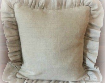 Linen Ruffled Pillow