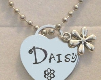 Daisy heart charm necklace in gift box