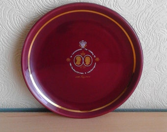 HRH The Prince Of Wales & Lady Diana Spencer Commemorative Wedding Plate 1980's Collectables Prinknash Pottery