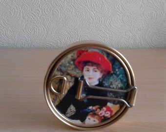 Vintage Folding Compact Mirror 50's/60's Travel Compact Made in Japan RARE design