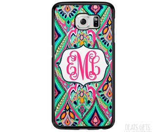 SALE - Personalized Samsung Galaxy S5 Case, Samsung Galaxy S6 Case, Galaxy S6 Edge Case, Navy, Pink, & Mint, Christmas Gift (433)