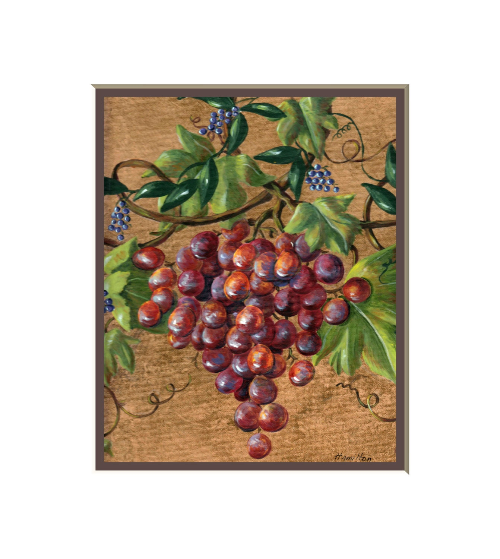 Rustic grapes art print italian kitchen prints fruit art for Italian kitchen prints