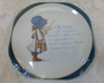Vintage Holly Hobby LASTING MEMORIES Mother Collectible Porcelain Plate NEW