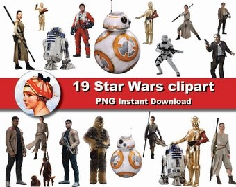 19  Star Wars  clip art - Scrapbooking  the force awakens - clip art, Instant Download