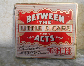 1930's Between The Acts Little Cigars Tin