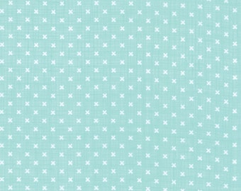 Moda Lullaby Stitch Aqua 13157 13 -  Kate and Birdie Paper Co - 1 yard