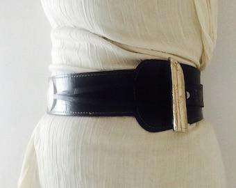 """SALE - WIDE LEATHER BELt, 50"""" - leather belt, wide belt, waist belt, hip belt, Steampunk belt, tribal fusion, gürtel, women's leather belt"""