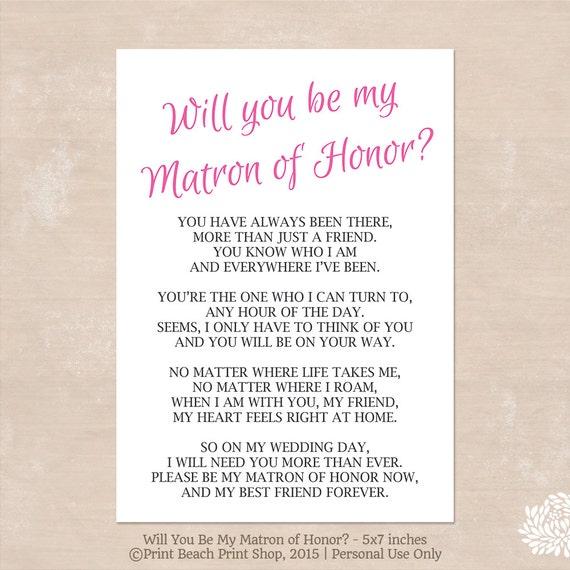 Matron of Honor - Sweet Poem or Quote? | Weddings ...