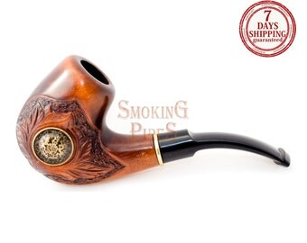 "Tobacco Smoking Pipe ""SARMAT"". Smoking Pipe. Wooden smoking pipe. Handmade, Handcarved, Tobacco pipes"