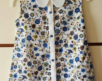 1960s 1970s Original Vintage Girls Dress Crimplene (4893)