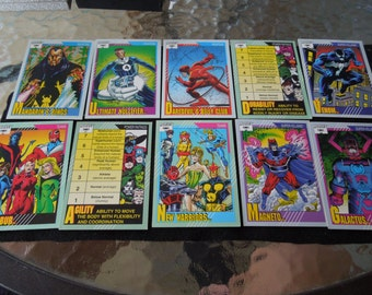 Marvel Cards From 1991 - Super Heroes, Rookies, Legends, Arch Enemies, Super Villains,  Spiderman, Thor, Captain America, Hulk