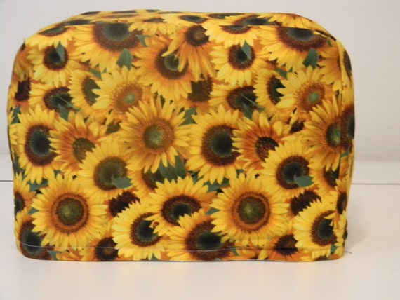 toaster cover 2 slice appliance cover sunflowers by kspreacher. Black Bedroom Furniture Sets. Home Design Ideas