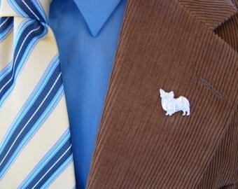 Sterling Silver Papillon Angel Lapel Pin
