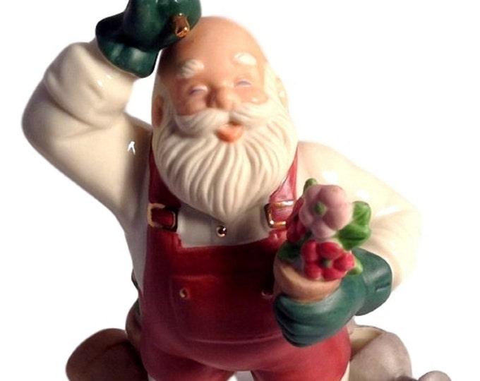 Lenox Figurines Santa Claus Santa's Pastimes Gardener 5 Inch