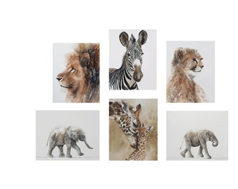 Animal Nursery Art Prints nursery prints boy modern nursery decor set of six unframed 11x14 print zoo jungle children watercolor painting dp