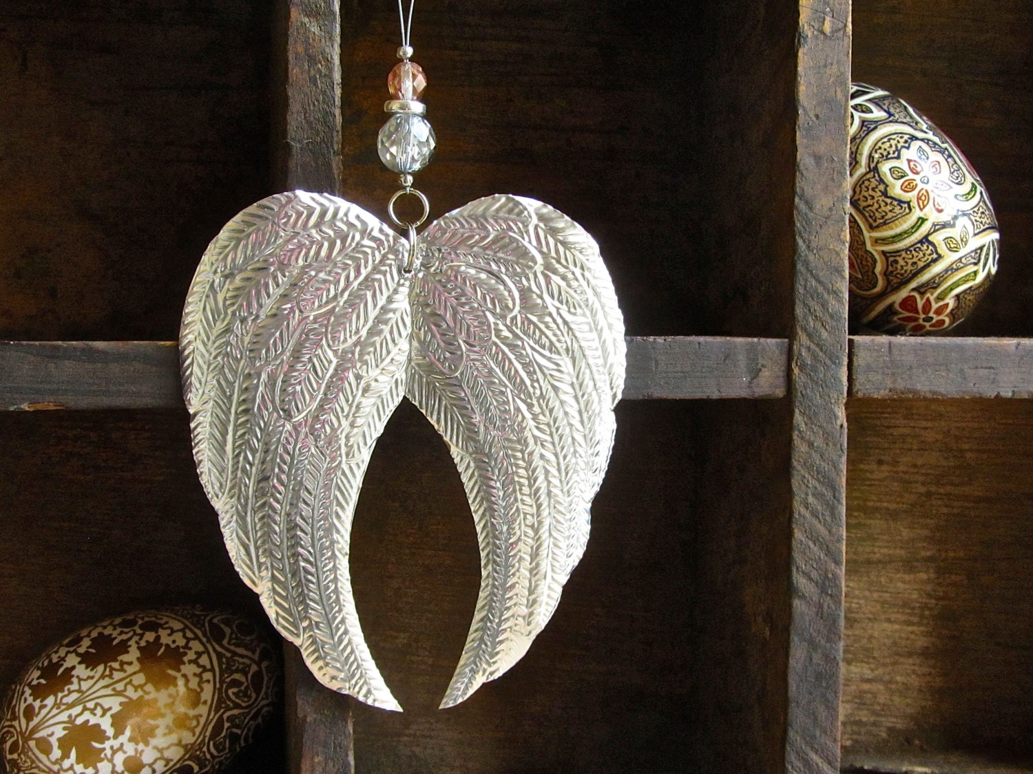 Metal angel wings decoration christmas ornament by foilingstar for Angel decoration