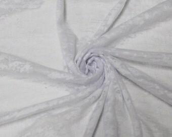 White Burnout Jersey Knit Fabric by the yard - 1 Yard Style 6846