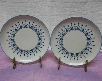 Vintage Marcrest Stetson Swiss Chalet Dinner Plates, Mid Century Modern,Set of 2, B