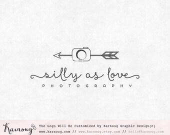 Arrow Logo, Camera Logo, Text Logo, Photography Logo, Boutique Logo, Premade Logo, Custom Logo, Custom Watermark, Watermark Logo