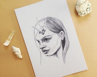 Lavender She Print