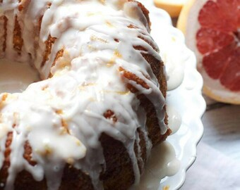 Pink Grapefruit Bundt w/Grapefruit Glaze