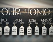 Chore Boards, Family Chores, Gift Idea, Family Names, Christmas in July, Christmas Gifts, 10x20
