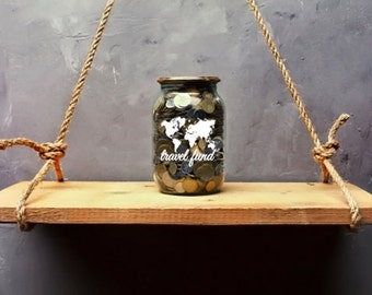 Travel Fund Jar Decal for Travel and Adventurists
