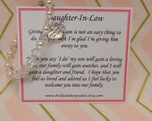 Future Daughter In Law Wedding Gift Bracelet Welcome to the Family Keepsake