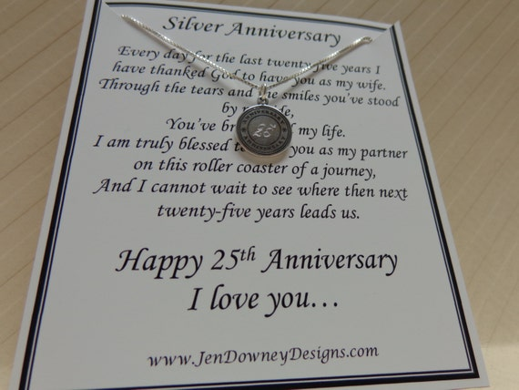 What Gift For 25th Wedding Anniversary: 25th Wedding Silver Anniversary Gift For By BrilliantKeepsakes