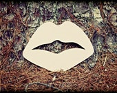 Paris Lips Unfinished Wooden Craft Shape, Do-It-Yourself