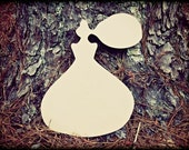 Paris Perfume Bottle Unfinished Wooden Craft Shape, Do-It-Yourself