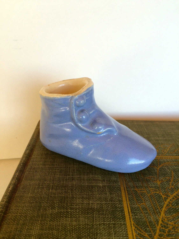 Ceramic Antique Baby Bootie Shoe Small 1950s Ceramic Vase