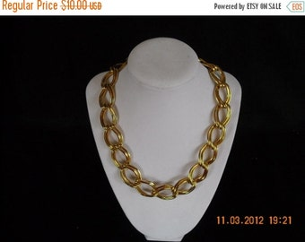 sale vintage metal goldtone choker necklace .....90