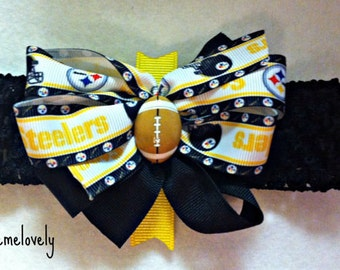 Pittsburgh Steelers Baby Bow Headband